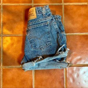 High Rise Levi Cut Off Denim Shirts Wedgie 90s